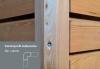 45x45 Eckleiste für Trendliner 27mm Sib. Lärche A/B gehobelt - More 1