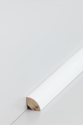 D14 Viertelstab 18x18 18.31 Abachi weiß lackiert