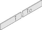 DORMA Montageplatte Gleitschiene silberfarbig