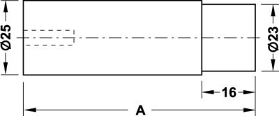 Wandtürpuffer Ø 25 mm Edelstahl matt/schwarz