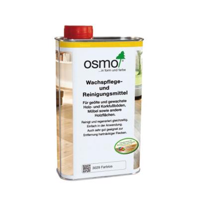 Osmo-Wachspfl./Reinigungsm. farbl. 1 ltr