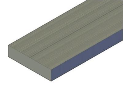 28x120mm Terrassendiele glatt, Kiefer KDI braun