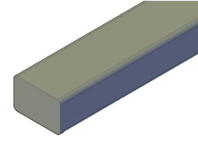 45x70mm Unterkonstruktion Kiefer KDI braun NTR A