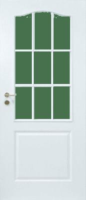 JELD-WEN Tür StibaPlus 2FB LA-9G Weißl. DIN RE