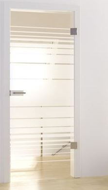 L&H Glasdrehtür ESG Studio/Office DIN LI