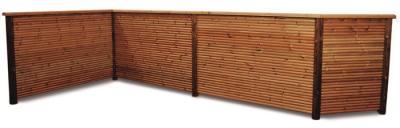 33x120mm Palisadenprofil FT2367 Kiefer KDI braun