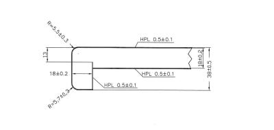 Fensterbank Abdeckkappe grau FBL 38mm Blende