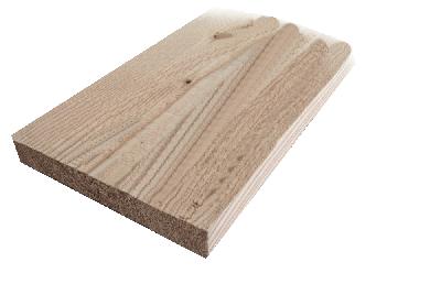 21x145mm Glattkantbrett sibirische Lärche roh