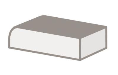 A103 CR Fensterbank Profil 110 gerundet weiß