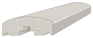 45x120mm Abschlußprofil FT2557 Kiefer KDI braun