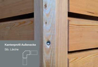 45x45 Eckleiste für Trendliner 27mm Sib. Lärche A/B gehobelt - Detail 1