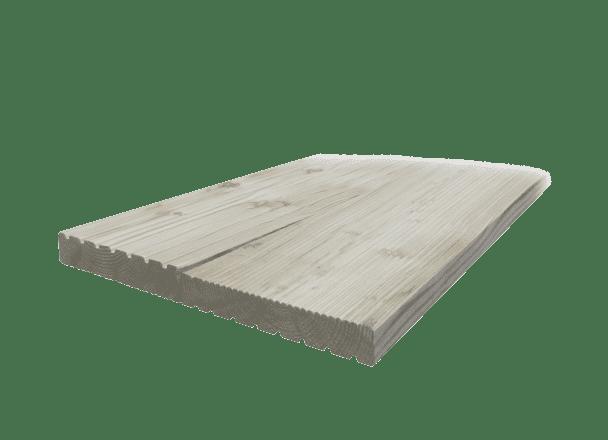 27x140mm Riffeldiele sibirische Lärche grob/fein, s/f hobelfallend - Detail 1