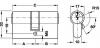 Profil-Doppelzylinder Messing vernickelt 27/40 mm gleichschließend S1, 3 Schlüssel - More 2
