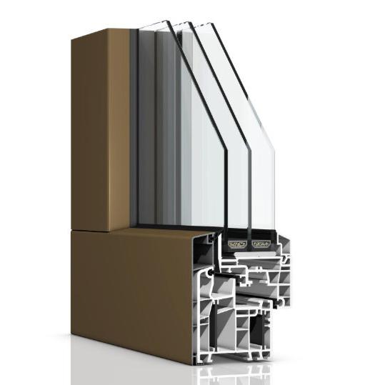 Kunststofffenster mit Aluminiumvorsatzschale
